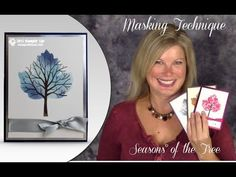 "Be prepared for some masking magical ""wow"" in today's Season's of the Stampin Up Sheltering Tree video. I'll demonstrate how to create this gorgeous leaf with the tree silhouette for fall, winter and I even added hearts for Valentine's Card Making Tips, Card Making Tutorials, Card Making Techniques, Making Ideas, Leaf Cards, Stamping Up Cards, Fall Cards, Tampons, Cute Cards"