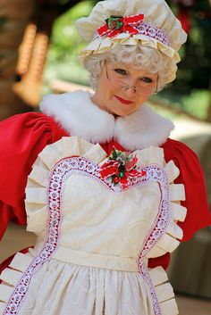 Mrs Claus Outfit, Mrs Santa Claus Costume, Mrs Claus Dress, Santa Christmas, Christmas Colors, Christmas Themes, Vintage Christmas, Christmas Decorations, Christmas Characters