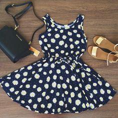 Daisy dress and I love the heels!