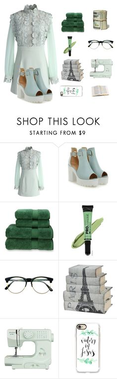 """219. mint modern"" by lifeissweet170000 ❤ liked on Polyvore featuring Chicwish, Christy, L.A. Girl, Retrò, John Lewis, Casetify, Aspinal of London, modern and vintage"