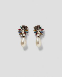 ZARA - WOMAN - LONG FAUX PEARL EARRINGS
