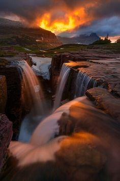 Lights storm #triplefalls  #glacier #nationalpark  https://plus.google.com/+alpaciro27