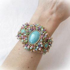 Bead Embroidery Kit Elven Garden Cuff Bracelet Birthday Gift