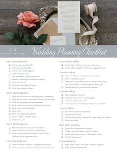Wedding Checklist Learn how to plan the perfect wedding with our wedding checklist. Download this wedding planning checklist and start planning.