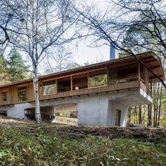 横内敏人建築設計事務所|T. Yokouchi Architect & Associate|京都市の住宅・建築設計事務所 Dream House Interior, Dream Home Design, House Design, House Plans 2 Story, Dream House Plans, Wooden Architecture, Space Architecture, Tiny House Cabin, Country Farmhouse