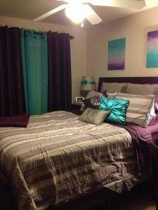 Purple Teal Grey Bedroom With Images New Bedroom Design Gray