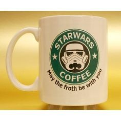 May the froth be with you. Star Wars coffee mug.