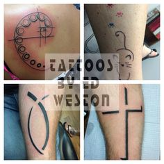 Variety of tattoos by Ed Weston