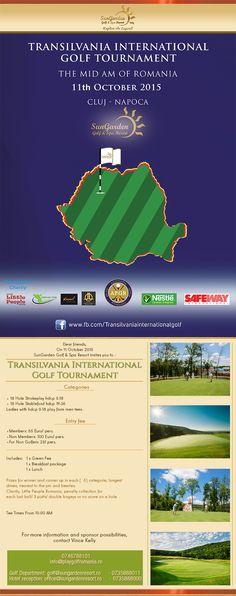 11 octombrie Transilvania International Golf Tournament (The Mid- Am of Romania) - Sun Garden Resort Green Contacts, Sun Garden, Little People, Romania, Charity, Golf, Celebrations, Green Lentils, Short People