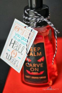 Quick and Easy Gift Idea. Will have to remember this when next year comes around...can buy discounted Halloween soaps right now for next year