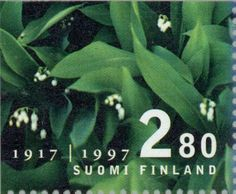 Finland, 1997. 80 Years of Independence. Lily of the Valley (Convallaria majalis)