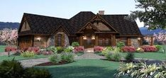 This ranch house plan features modern amenities in under 2000 sq ft. This craftsman house plan boasts 3 bedrooms and a bonus room above the garage. Tuscan House Plans, Cottage Style House Plans, French Country House Plans, House Plans One Story, Craftsman Style House Plans, Cottage Style Homes, Ranch House Plans, Best House Plans, House Floor Plans