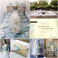 Ice Blue and Ivory Wedding Inspiration Board #blue #ice #pastel #inspiration #wedding #ivory