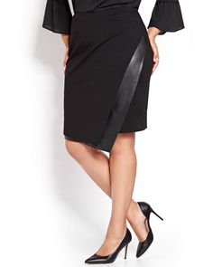 Here's a Michel Studio creation that redefines the skirt: a plus size…