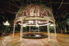 A gazebo at the Gaylord Opryland Resort in Nashville, Tennessee