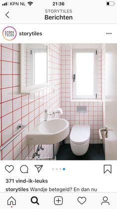 Coloured Grout, Your Space, Toilet, Vanity, Canning, Bathroom, Painted Makeup Vanity, Washroom, Lowboy