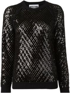 MOSCHINO Black Oversized Sweatshirt