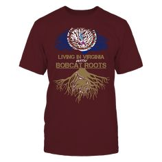 Texas State Bobcats - Living Roots Virginia T-Shirt, TIP: If you buy 2 or more (hint: make a gift for someone or team up) you'll save quite a lot on shipping.  Click the GREEN BUTTON, select your size and style.  The Texas State Bobcats Collection, OFFICIAL MERCHANDISE  Available Products:          Gildan Unisex T-Shirt - $25.00 District Women's Premium T-Shirt - $30.00 District Men's Premium T-Shirt - $28.00 Next Level Women's Premium Racerback Tank - $30.00 Gildan Unisex Pullover Hoodie…