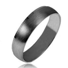 Alliance mariage homme or noir