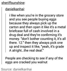 Yep, my mum taught me to pick up the eggs, open the carton and pick up the eggs one by one to check if they are cracked. Stupid Funny, Funny Cute, The Funny, Funny Stuff, Funny Things, Funny People, Funny Memes, Jokes, 9gag Funny
