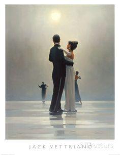 Baila conmigo hasta el final del amor Láminas por Jack Vettriano en AllPosters.es