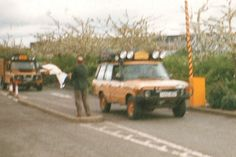 Original Range Rover of UK Team 87 Madagascar, pictured 1998 on the Land Rover 50th Birthday Heritage Run   A Range Rover Turbo Diesel 2.4
