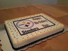 Steelers Birthday Cake Birthday cakes Birthdays and Cake