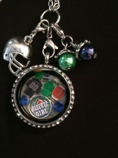 Seattle Seahawks Inspired Necklace Seahawks Handcrafted Memory Locket #2