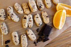 Orangenplätzchen mit Schokolade