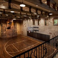 Every home needs a basketball court! I'd love for my husband to have this :)