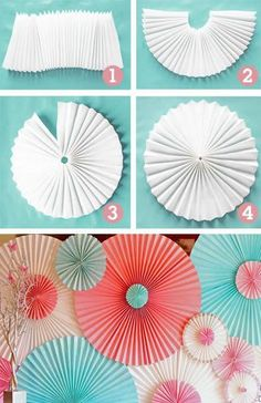 DIY Backyard Party Decor - DIY Paper Rosettes - Cool Ideas for Decorations for Parties - Easy and Cheap Crafts for Summer Barbecues and Family Get Togethers, Swimming and Pool Party Fun - Step by Step Tutorials For Banners, Table Decor, Serving Ideas Origami Flowers, Paper Flowers, Diy Flowers, Shade Flowers, Origami Hearts, Flower Diy, Flower Crafts, Diy Décoration, Easy Diy