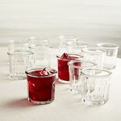 Set of 12 10-Oz. Working Glasses - Crate and Barrel