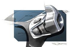 BMW interior sketch, by Felix Staudacher Bmw I3 Interior, Car Interior Sketch, Car Interior Design, Car Design Sketch, Car Sketch, Design Logo, Design Poster, Tool Design, Design Autos