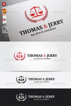 Law Firm - Logo Design Template Vector #logotype Download it here: http://graphicriver.net/item/law-firm-logo/6326872?s_rank=1342?ref=nexion