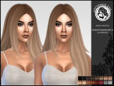 16 natural colors for Nightcrawler's Charmed. Found in TSR Category 'Sims 4 Female Hairstyles'