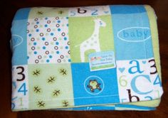Flannel Receiving Baby Blanket - 36 x 36 - READY TO SHIP - Little Buddy Flannel - Oversized Receiving Blanket - Double Layer Flannel Blankie - pinned by pin4etsy.com