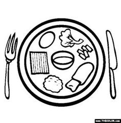 Seder plate coloring page