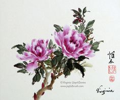 Flowers and Birds - Virginia Lloyd-Davies - Joyful Brush®