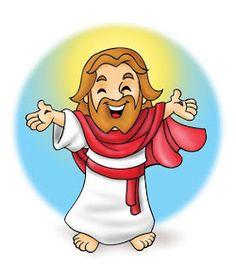 Santa Cartoon, Jesus Cartoon, Cartoon Pics, Bible Stories For Kids, Bible Crafts For Kids, Jesus Art, Christmas Drawing, Jesus Pictures, Sunday School Crafts