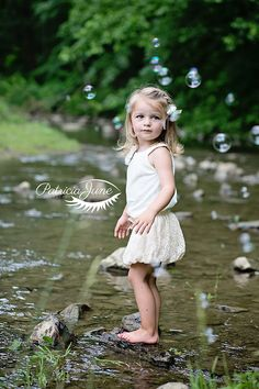 photo of two and a half year old girl with bubbles in mingo creek pennsylvania