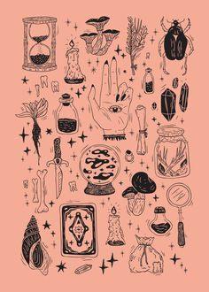 Couch Pillows 760052874600165084 - Witchcraft Hand & Bath Towel by Nikita Ermakov – Hand Towel Source by kolecskoclara Tattoo Drawings, Art Drawings, Tattoos, Posca Art, Illustrations, Illustration Art, Tattoo Und Piercing, Witch Aesthetic, Flash Art