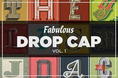 Fabulous Drop Cap by Spencer & Sons Co. on @creativemarket