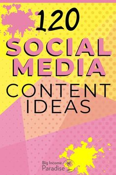 You need to consistently create content and post it daily if you want to grow your online business fast. So how can you come up with new Social media content ideas every day? I put together 120 Killer Content Ideas for Social Media that you can start using right now. Check it out on my blog and start posting new content ideas that your audience will love and engage with. #BigIncomeParadise #socialmediacontent #socialmediacontentideas #contentmarketing #contentcreation #ContentIdeas… Social Media Content, Social Media Tips, Make More Money, Public Relations, Content Marketing, Online Business, Web Design, About Me Blog, Learning