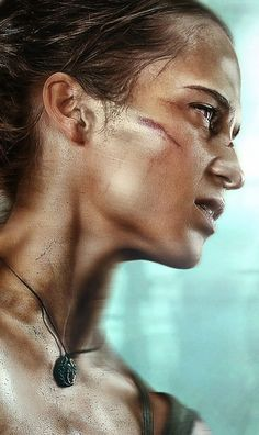 """Tomb Raider Lara Croft Alicia Vikander HD wallpaper. ♡ ♡ ♡ How Download: Click on each image to view larger in light box, then right click on image and select """"save image as …"""" to download image to your desktop, laptop. If you are browsing website by mobile device, please tap on image for a while (3 seconds) and then select """"save image as …"""" to download image to your mobile device."""