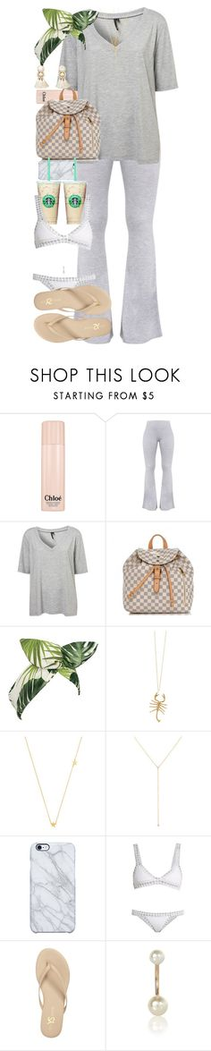 """Sun Bum."" by quiche ❤ liked on Polyvore featuring Chloé, Boutique, Louis Vuitton, Lulu in the Sky, Jennifer Fisher, Jennifer Zeuner, ZoÃ« Chicco, Uncommon, kiini and Yosi Samra"