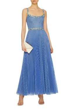 Tulle Pois Plisse Midi Ballerina Dress by LUISA BECCARIA Now Available on Moda Operandi