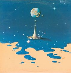 Electric Light Orchestra - Time   Cool artwork on probably my favorite ELO albums. A brilliant point in time, moving from a more progressive 70's sound into the '80 with synths and sci-fi.