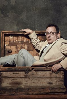"Michael Emerson (Harold Finch) promoting ""Person of Interest""."