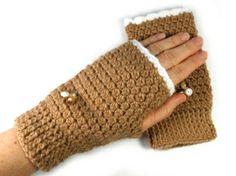 Golden Heart, Heart Crafts, Tans, Fingerless Gloves, Arm Warmers, Handmade, Sun Tanning, Fingerless Mitts, Hand Made