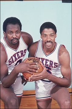 Moses Malone and Dr. J Julius Irving